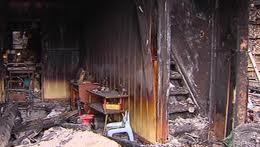 maison incendiée